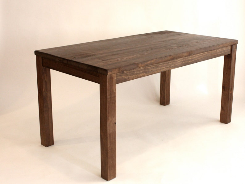 Counter Height Kitchen Island Table in Reclaimed Wood