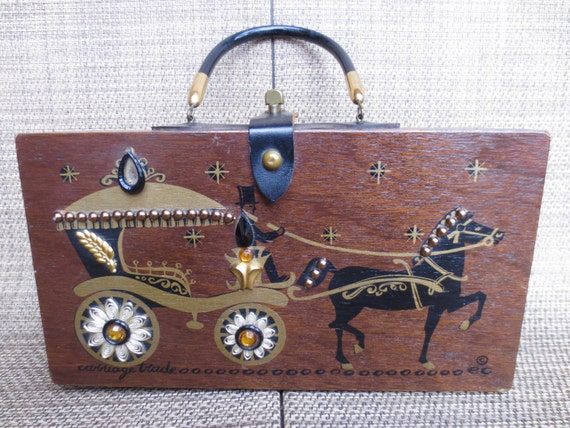 1960s Enid Collins Box Purse,Enid Collins Jeweled