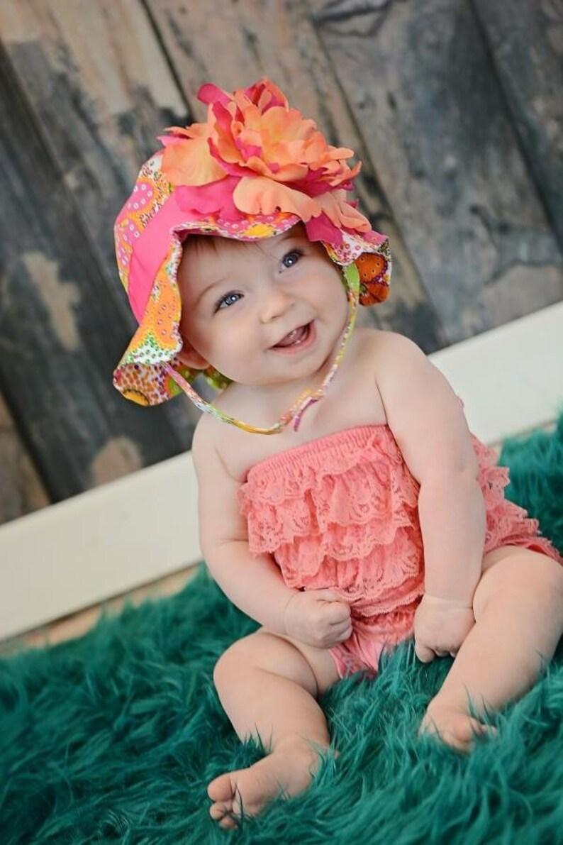 c9320792e98 Orange floral sun hat baby girl sun hat baby floppy hat etsy jpg 794x1191 Newborn  sun