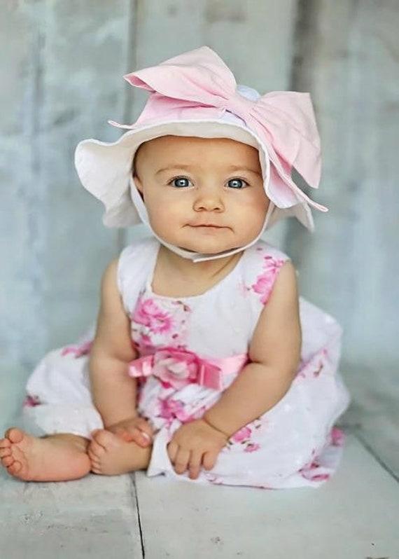 e9b01194fd4 Bow-Rae-Mi Sun Hat Baby Girl Sun Hat Baby Floppy Hat Sun