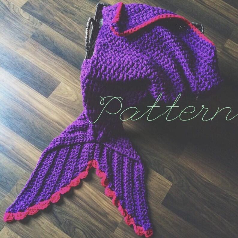 Child Mermaid Blanket Pattern Crochet Mermaid Blanket Pattern Etsy