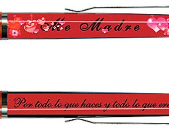 Me Madre ( Mi Madre ) My Mother Floating Pen for Mother's Day