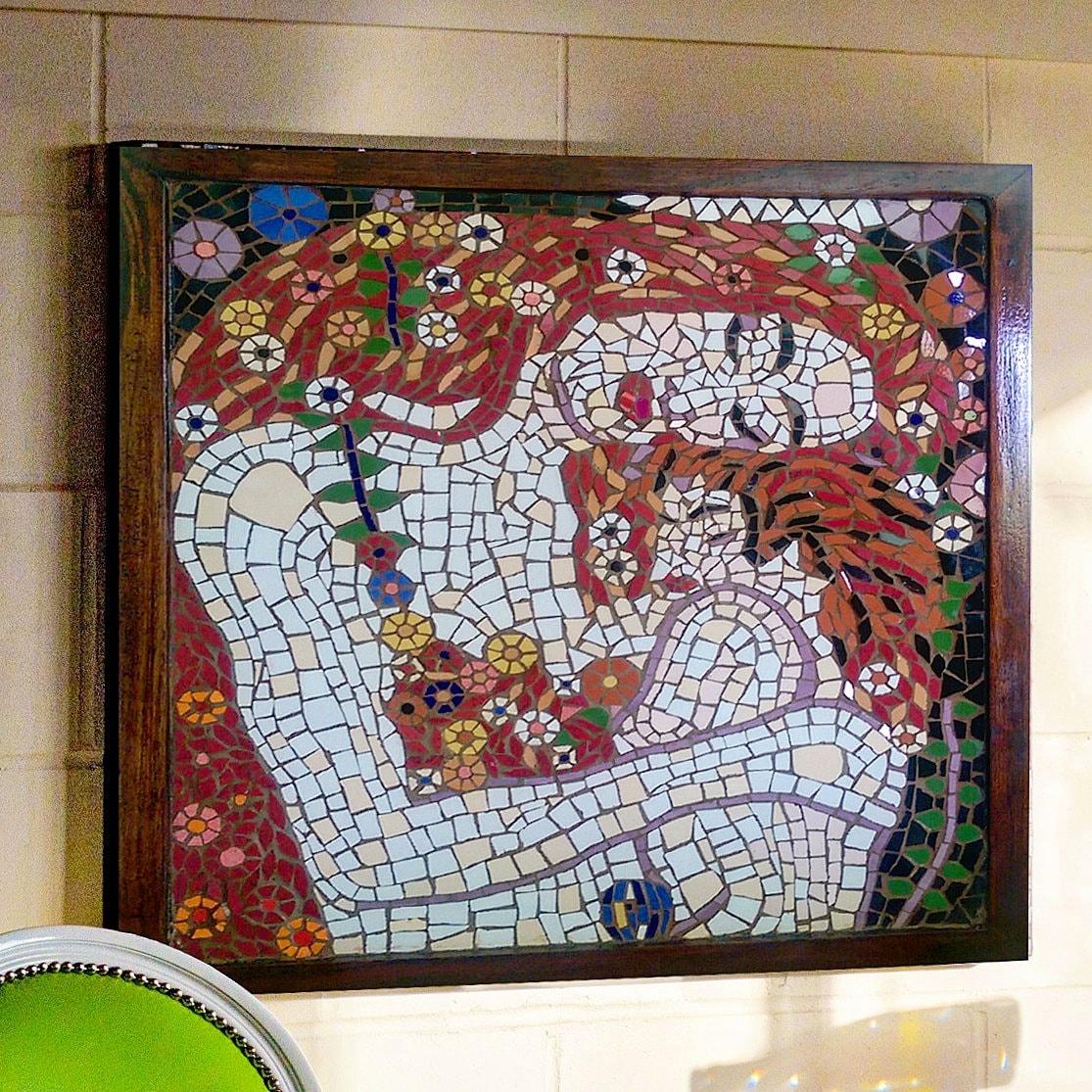 Mattonelle della parete del mosaico arte madre figlio for Parete a mosaico