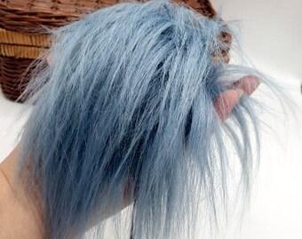 Blue Pearl Faux Fur Pom Pom