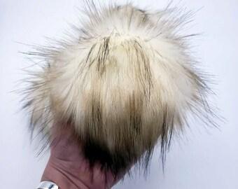 Kahlua & Cream Faux Fur Pom Pom