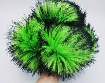 Electric Shamrock Faux Fur Pom Pom