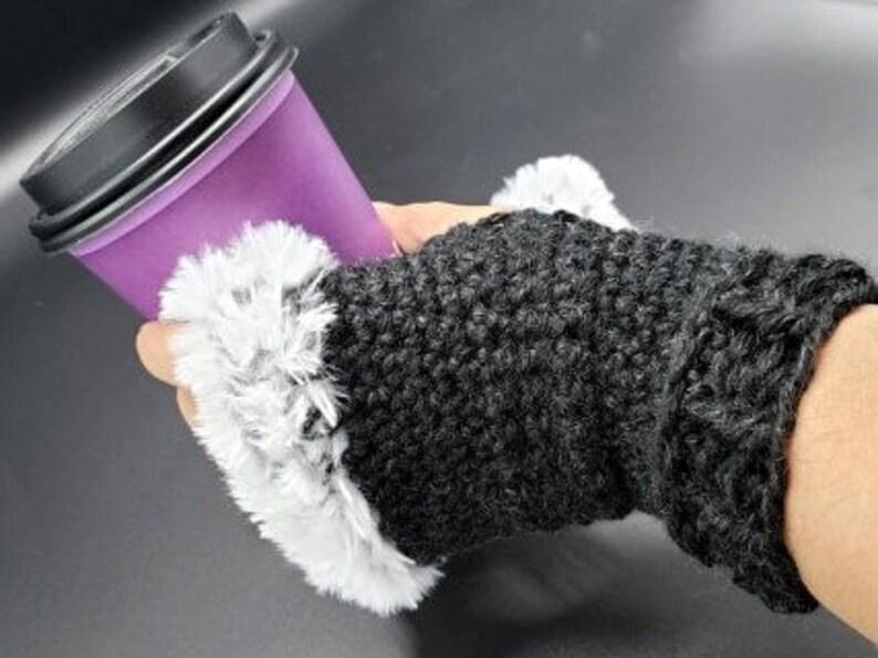 PDF Pattern for Fur Trimmed Wrist Warmers image 1