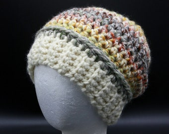 Medium and Large Colorful Thick Wool blend Beanies