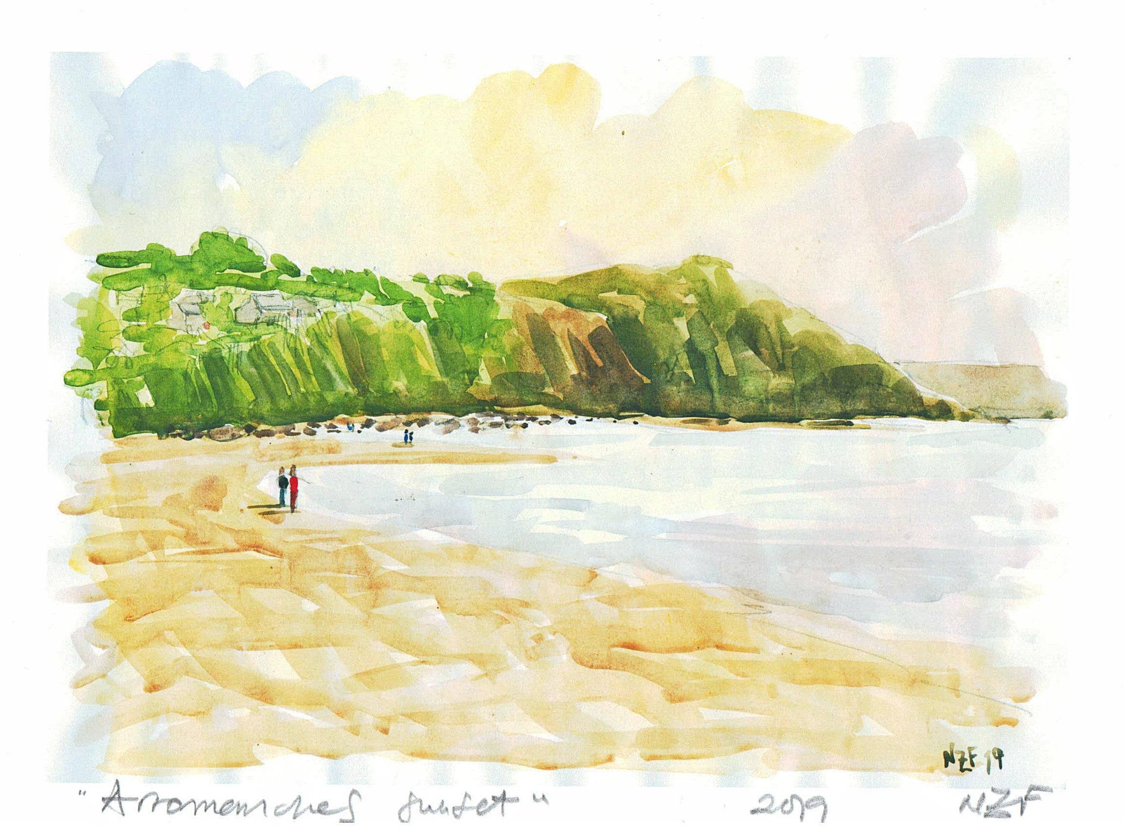 Australian  sunset beach ocean art landscape print photograph 900mm x 600mm