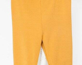 LOLLYPOP - legging uni de longueur 3/4 pour bébés - jaune moutarde
