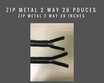 Zip metal two way 26 pouces - vendu en lot