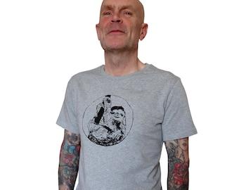 Sloth, fairtrade organic shirt for men, 100% organic cotton, screen printed by hand, Sloth tee, men's t-shirt, tshirt, present for him