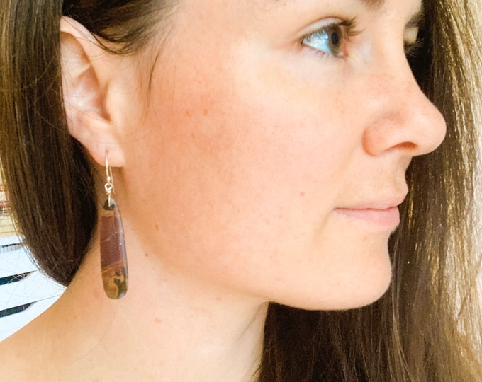Pomegranate Jasper Stone Earrings
