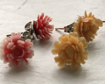 Kid Flower Earrings,Flower Stud Earrings, Flower Earrings Studs, Stud Earrings For Women, Flower Studs, Floral Earrings, Plastic Earrings