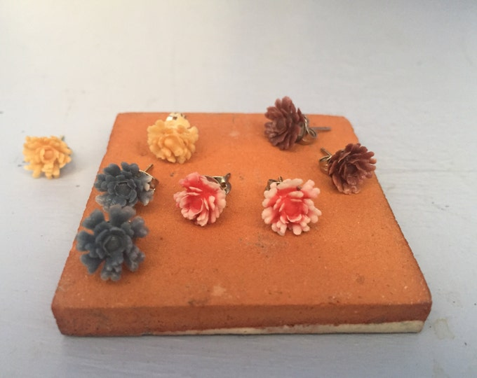 Kid Flower Earrings,Flower Stud Earrings, Flower Earrings Studs, Stud Earrings For Women, Flower Studs, Floral Earrings, Plastic Earrings
