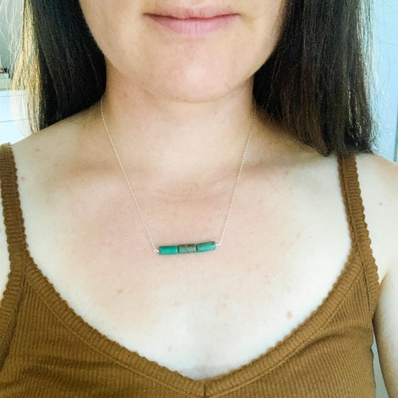 Three Stone Turquoise Necklace