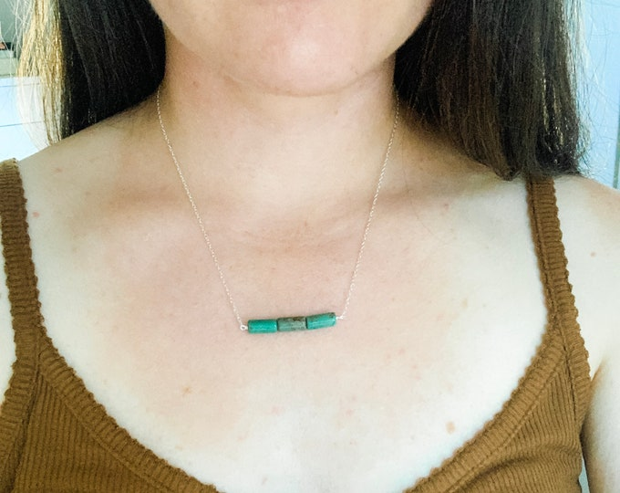 Three Stone Turquoise Necklace