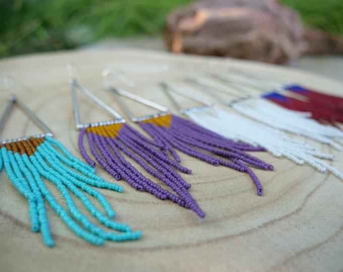 Ming Seed Beadwork Earrings