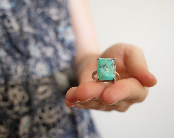 Arizona Turquoise Ring · Sterling Silver · size 7.5