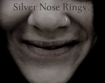 Highest Quality Sterling Silver Nose Ring: Seamless Nose Ring Hoop