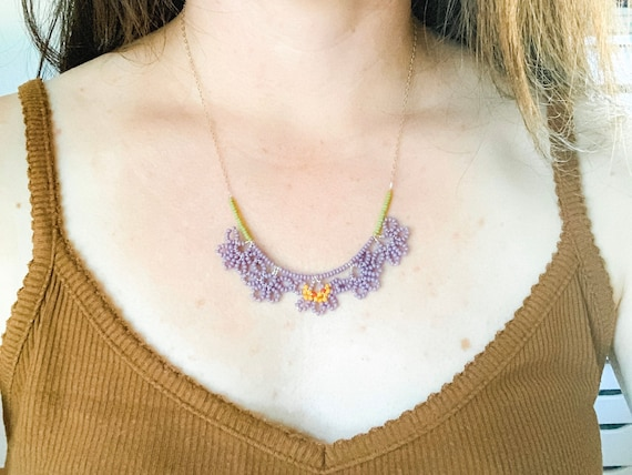 Crocus Flower Designed Necklace