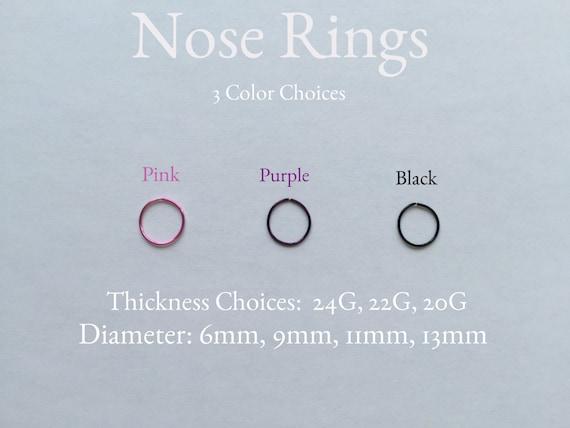 Body Jewelry/ Black/ Pink/ Purple