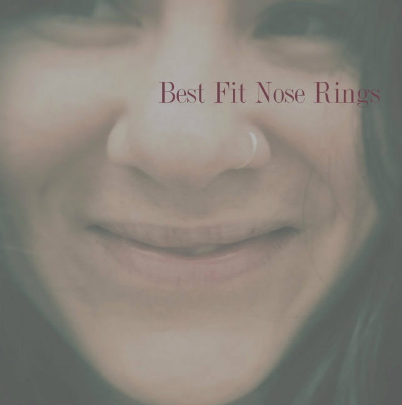 Nose Hoop Sizing Pack Best Fit Nose Ring VSCO jewelry image 1