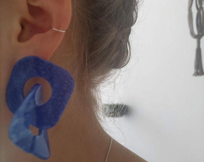 Silver Cartilage Earrings, 925 Sterling Silver Hoops, Silver Snug Hoops