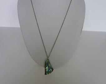Vintage Abalone pendant necklace