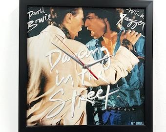 David Bowie Mick Jagger Wall Art Clock Framed