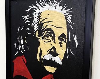Albert Einstein Genius Framed Wall Art