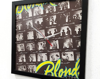 Blondie Band Album Cover Wall Art, Blondie Vinyl Record Clock, Blondie Poster, Punk Rock Poster Music Room Decor