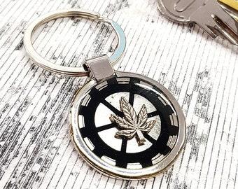 Pot Leaf Keychain Marijuanna Keyring Personalized Engraved Custom Text,Pot Leaf Weed keychain, Pot Leaf Key Chain Marijuana Steampunk Gift