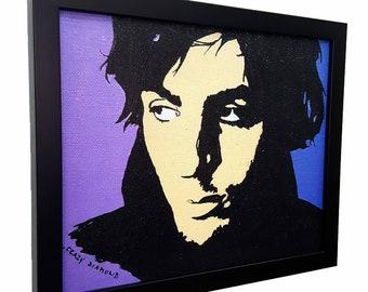 Re Lucertola Jim Morrison incorniciato parete arte tela