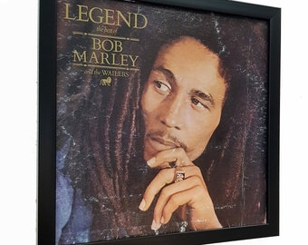 Bob Marley Wall Art Framed or Clock -Album Cover Art