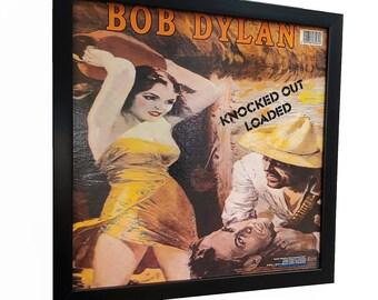 Bob Dylan Album Cover Art Framed Clock