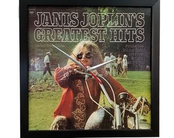 Janis Joplin Album Cover Wall Art Clock or Poster Framed