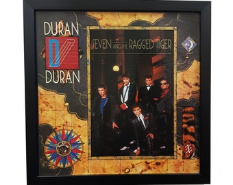 Duran Duran Wall Art Framed or Clock, Vintage Poster Vinyl Record Decor, Duran Duran 80s Album Cover Wall Poster or Clock