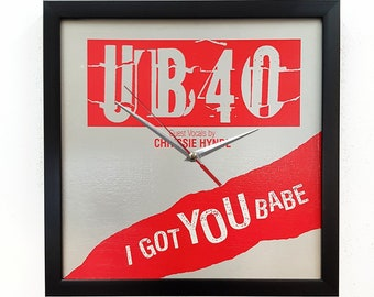 UB40 Album Cover Art Framed or Clock