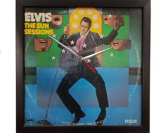 Elvis Presley Album Cover Art Framed with Clock