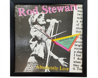 Rod Stewart Wall Art Clock or Framed Album Cover, Rod Stewart Poster, Vinyl Record Decor, Vintage Rock n Roll Interior Pop Art Music Poster