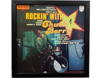 Chuck Berry Album Wall Art Framed or Clock, Album Cover Art Vinyl Record Wall Clock, Rock n Roll Music Poster Vintage Decor