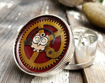 Steampunk Herb Grinder - Timeless Owl Spice Crusher