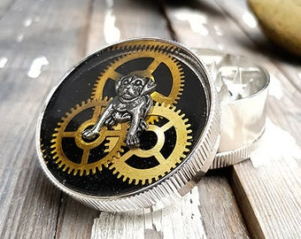 Metal Herb Grinder - Steampunk Bulldog Spice Crusher -