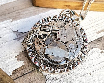 Steampunk Revolver Necklace