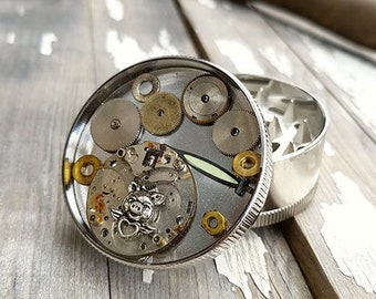 Steampunk Piggy Girl Grinder Weed Girly Pipes Herbs Cannabis Accessories Marijuana Spice Weed grinders- Amazing pocket size 420 stoner gifts