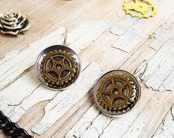 Watch Part Steampunk Earrings
