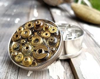 Steampunk Herb Grinder -  Watch Parts Mess Spice Crusher -