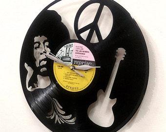 Jimi Hendrix Vinyl Record Clock or Framed - Guitar Wall Art -Great Rock n Roll Gift Jimi Hendrix vinyl clock Wall
