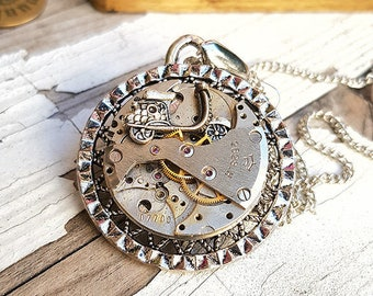 Vespa Motorcycle Necklace Steampunk Charm Pendant